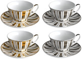Pols Potten Gold & Silver Stripes Tea Set