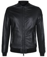 Armani Jeans Mesh Insert Leather Jacket