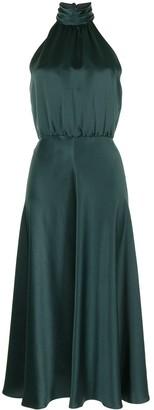 Veronica Beard Gwynie halterneck silk dress