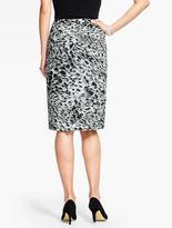 Talbots Animal-Print Pencil Skirt
