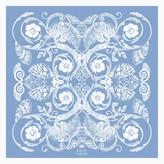 The Baroque Pocket Square Sky Blue