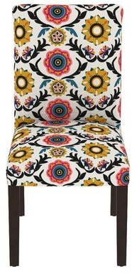 Bungalow Rose Howardwick Cotton Dining Chair in Multicolor