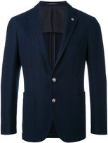 Tagliatore logo pin blazer - men - Cotton/Cupro - 50