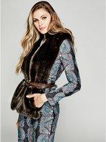 GUESS by Marciano Women's Noelle Faux-Fur Shawl