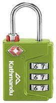 Kathmandu TSA 3 Dial Code Travel Padlock Backpack Luggage Security Lock Green