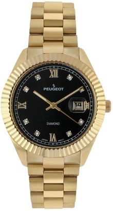 Peugeot Men's Diamond Stainless Steel Watch