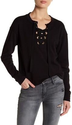 Black Orchid Lace-Up Sweatshirt