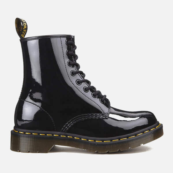 Dr. Martens Women's 1460 Patent Lamper 8-Eye Boots - Black