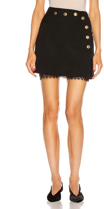 Givenchy Wrap Mini Skirt in Black | FWRD