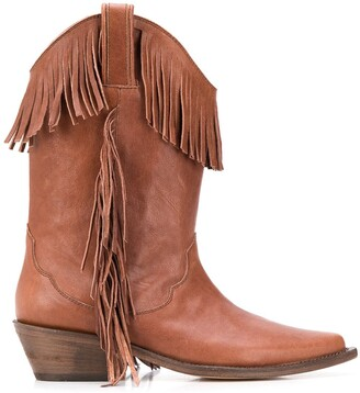 P.A.R.O.S.H. Fringed Cowboy Boots