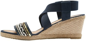 M&Co Sable jewelled espadrille wedge
