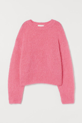 H&M Knit Wool-blend Sweater - Pink