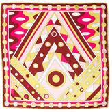 Emilio Pucci Abstract Print Silk Scarf