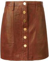 MICHAEL Michael Kors buttoned leather skirt