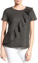 Pleione Asymmetrical Ruffle Sweatshirt (Regular & Petite)