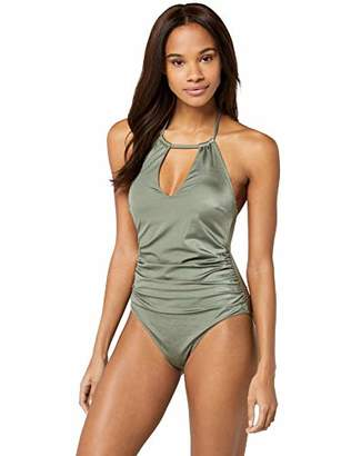 Iris & Lilly Women's Haltnerneck Tummy Control Shaping Swimsuit,(Size:S)
