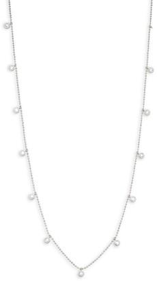 Saks Fifth Avenue 14K White Gold Diamond Collar Station Necklace
