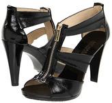 MICHAEL Michael Kors - Berkley T Strap (Black Patent) - Footwear