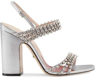 Gucci Crystal-heel Shoes | Shop the