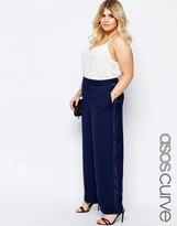 Asos Palazzo Pants with Tuxedo Trim