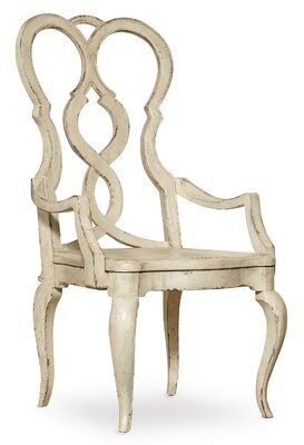 Hooker Furniture Auberose Queen Anne Back Arm Chair (Set of 2 Finish: White