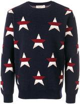 MAISON KITSUNÉ star intarsia jumper - men - Cashmere/Merino - M