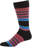 Jared Lang Striped Cotton-Blend Socks