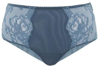 La Perla Brigitta Lace-trimmed High-rise Briefs - Womens - Dark Blue