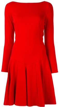 Paule Ka pleated flare dress