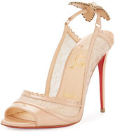 Christian Louboutin Hot Spring Butterfly 100mm Red Sole Pump, Doudou