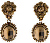 Stephen Dweck Smoky Quartz Flower Clip-On Earrings