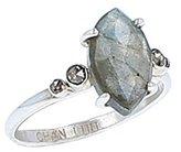 Chan Luu Women's Sterling Silver Marquise Green Labradorite Diamond Ring Size - K