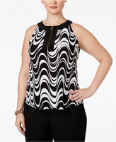 INC International Concepts Plus Size Printed Halter Top, Only at Macy's