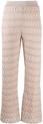 M Missoni Flared Zigzag Trousers