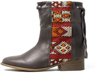 Howsty Brown Leather Boot
