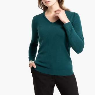 Anne Weyburn Fine Knit V-Neck Jumper with Gathered Shoulders