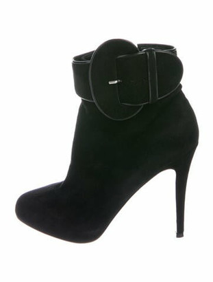 Christian Louboutin Trotinette Suede Boots Black