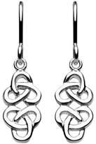 Heritage Women's Sterling Silver Celtic Classic Knot Drop Earrings