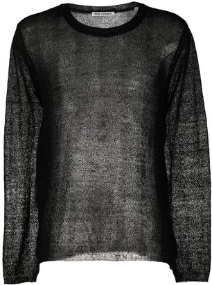 Our Legacy sheer knitted jumper