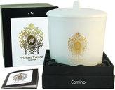 Tiziana Terenzi White Maxi Glass Camino with Lid - Spicy Snow - 3 Wicks