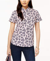 Tommy Hilfiger Cotton Short-Sleeve Printed Shirt, Created for Macy's