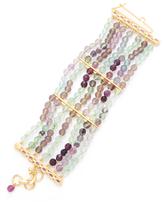 Bounkit Fluorite & Amethyst Multi Strand Bracelet