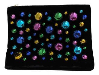 Charlotte Olympia Black Velvet Clutch bags