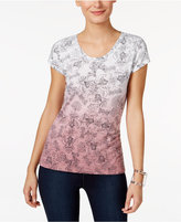 Style&Co. Style & Co. Petite Printed Ombré Top, Only at Macy's