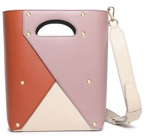 Yuzefi Pablo Color-block Textured-leather Shoulder Bag