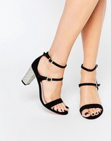 Carvela Geisha Black Embellished Heeled Sandals