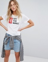 Vans Off The Wall Logo T-Shirt In White