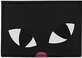 Lulu Guinness Kooky Cat Cardholder, Black