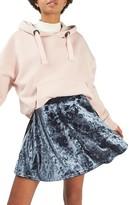 Topshop Women's Velvet Skater Skirt