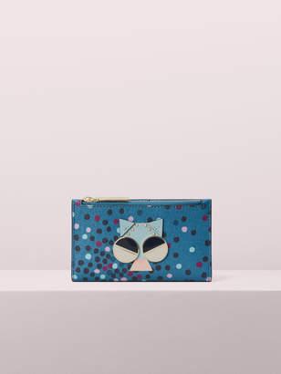 Kate Spade spademals smitten kitten small slim bifold wallet